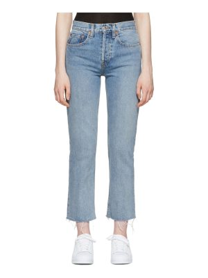 Re-done Originals High-rise Stovepipe Jeans