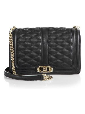 Rebecca Minkoff quilted love metallic leather crossbody bag