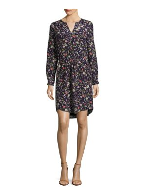 Rebecca Taylor Split Neck Floral Dress