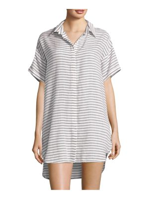Red Carter striped collared tunic