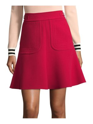 Red Valentino belted a-line skirt