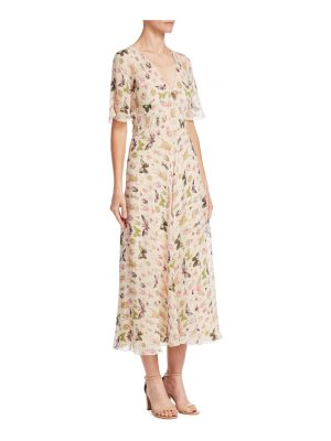 Red Valentino silk insect-print dress