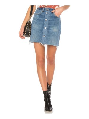 RE/DONE LEVI'S High Waisted Button Front Mini Skirt