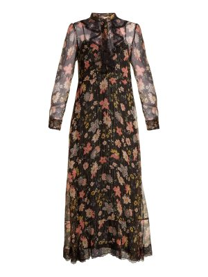 Red Valentino Floral-print silk-chiffon dress