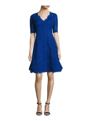 Rickie Freeman for Teri Jon Floral Lace Fit-and-Flare Cocktail Dress