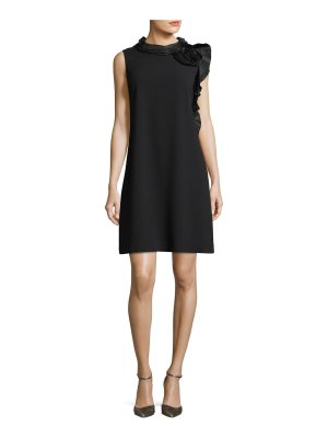 Rickie Freeman for Teri Jon Sleeveless Asymmetric Ruffle Mini Cocktail Dress