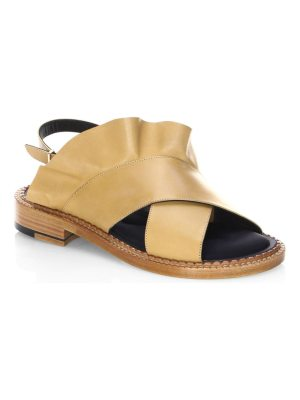 Robert Clergerie ruffle leather sandals