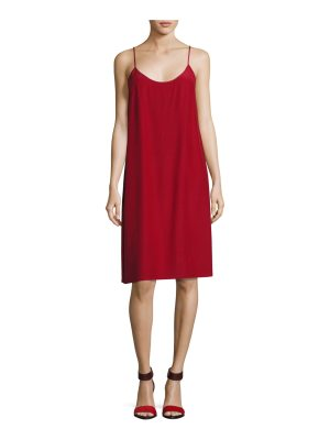 Robert Rodriguez Silk Crepe Slip Dress