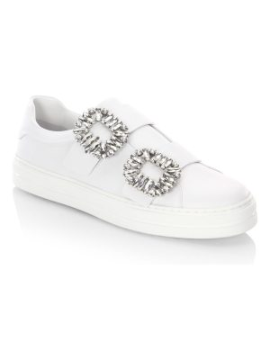 Roger Vivier jeweled leather sneakers