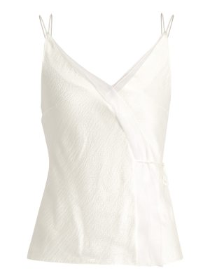 Roksanda Lymer silk-satin seersucker cami top