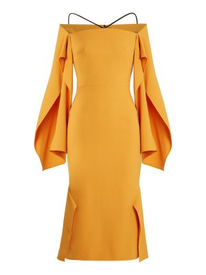 Roland Mouret Andover off-the-shoulder crepe midi dress