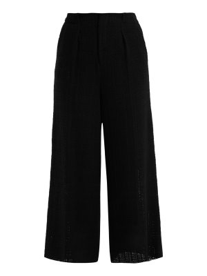 Roland Mouret broadgate wide-leg open-weave cotton trousers