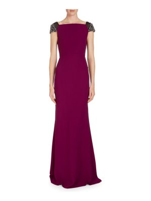 Roland Mouret Hepworth Off-the-Shoulder Fluted Gown