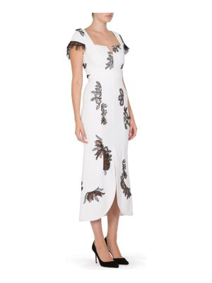 Roland Mouret heywood floral lace midi dress