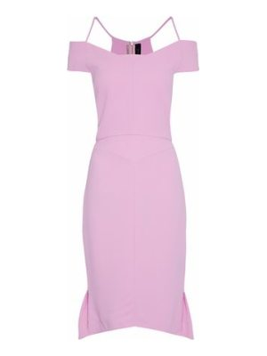 Roland Mouret flared pleated crepe dress