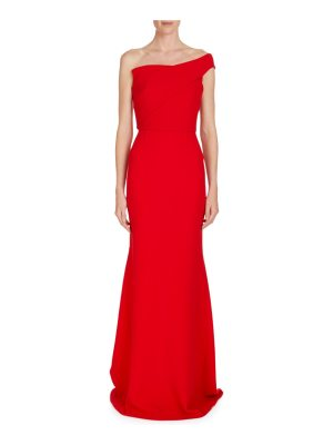 Roland Mouret Lockton One-Shoulder Crepe Gown