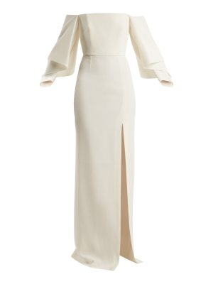 Roland Mouret Octon off-the-shoulder crepe gown