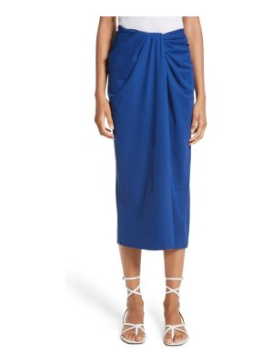 Rosetta Getty jersey twist front midi skirt