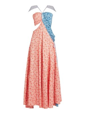 ROSIE ASSOULIN Half and Half floral-print cotton gown