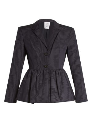 ROSIE ASSOULIN peplum-hem silk and wool-blend moire jacket