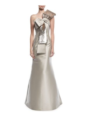 Sachin & Babi Barrie Asymmetric Sequined Bow Gown