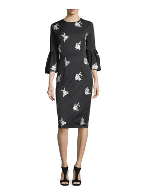 Sachin & Babi Reese Floral Embroidery Midi Cocktail Dress