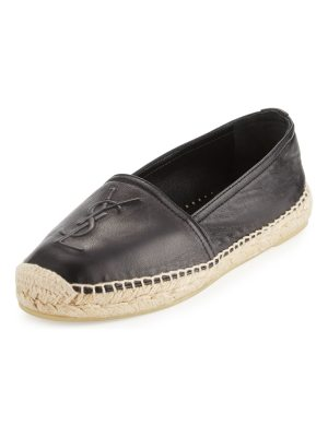 Saint Laurent Leather Logo Espadrille Flat