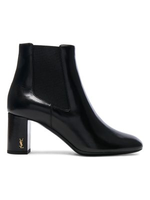 Saint Laurent Leather Loulou Pin Boots