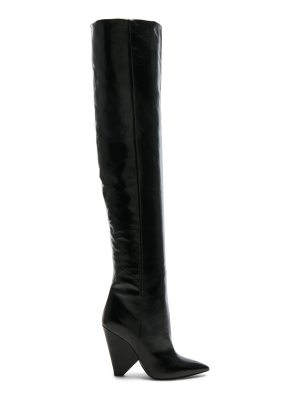 Saint Laurent Leather Niki Thigh High Boots