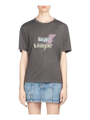Saint Laurent lightning logo tee