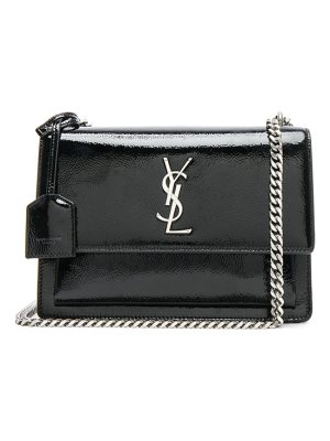 Saint Laurent Medium Patent Monogramme Sunset Chain Bag