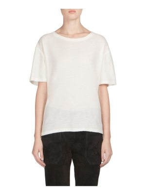 Saint Laurent roundneck logo cotton tee