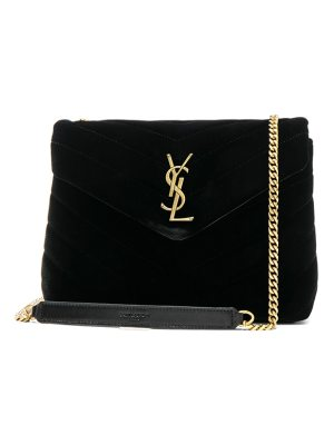 Saint Laurent Small Velvet Monogramme Loulou Chain Bag
