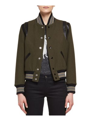 Saint Laurent Teddy Varsity Bomber Jacket