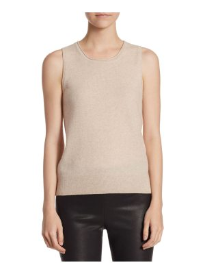 Saks Fifth Avenue collection roundneck cashmere tank top