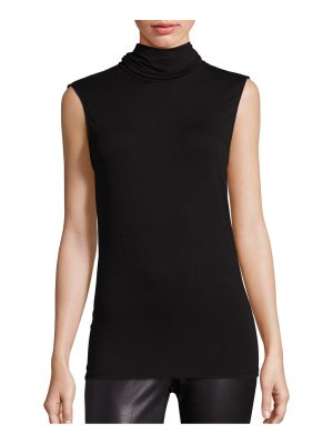 Majestic Filatures soft touch sleeveless turtleneck top