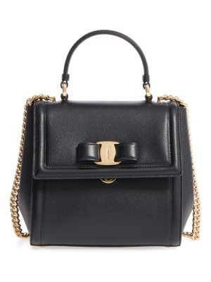 Salvatore Ferragamo small carrie leather bow satchel