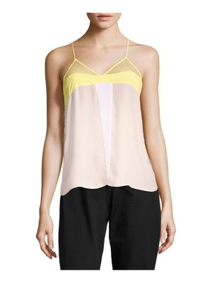 Sandro Ever Colorblock Sleeveless Top