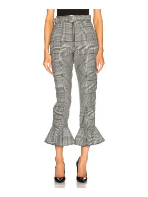 self-portrait Frilled Check Trousers