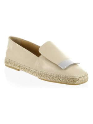 Sergio Rossi round toe leather espadrilles