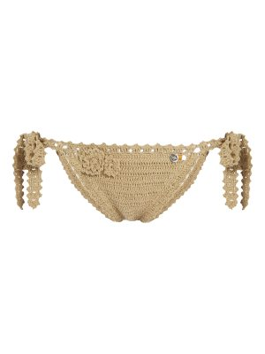 SHE MADE ME jannah tie side crochet bikini briefs