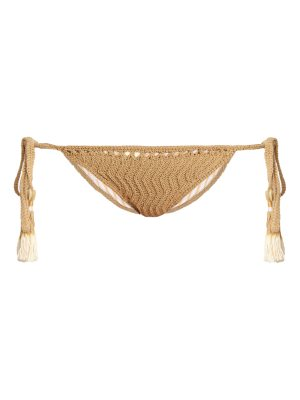 SHE MADE ME Laharia Tie-Side crochet bikini briefs