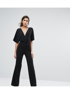 Silver Bloom Kimono Sleeve Jumpsuit with Wide Leg