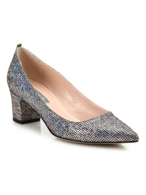 SJP by Sarah Jessica Parker katrina sequined point toe block heel pumps