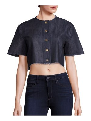 Solace London cropped snap-front shirt