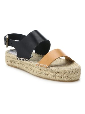 Soludos two-tone leather platform espadrille sandals