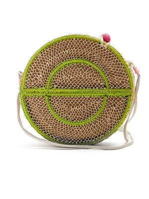 Sophie Anderson nilsa circle toquilla straw cross body bag