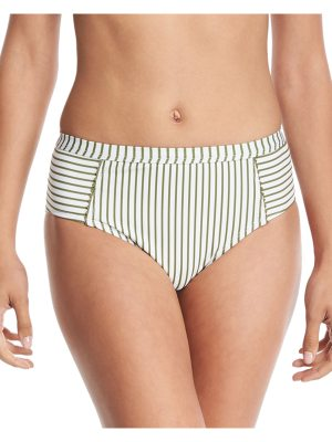 Splendid Picturesque High-Waist Striped Swim Bikini Bottom