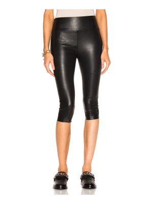 SPRWMN High Waist Crop Leather Legging