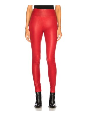 SPRWMN High Waist Leather Ankle Legging